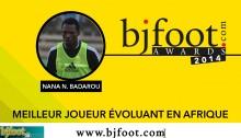 Bjfoot Awards 2014: Badarou , meilleur joueur évoluant en Afrique