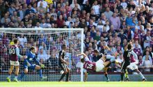 BIRMINGHAM, ENGLAND - SEPTEMBER 11:  Rudy Gestede of Villa scores to make it 2-1 during the Sky Bet Championship match between Aston Villa and Nottingham Forest at Villa Park on September 11, 2016 in Birmingham, England.  (Photo by Michael Regan/Getty Images)