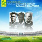 Bjfoot Awards 2016: les nominés pour le titre du «meilleur joueur évoluant en Afrique»