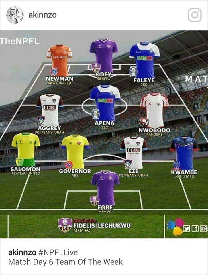 Nigéria-J6: Salomon retenu dans l'équipe type de la journée