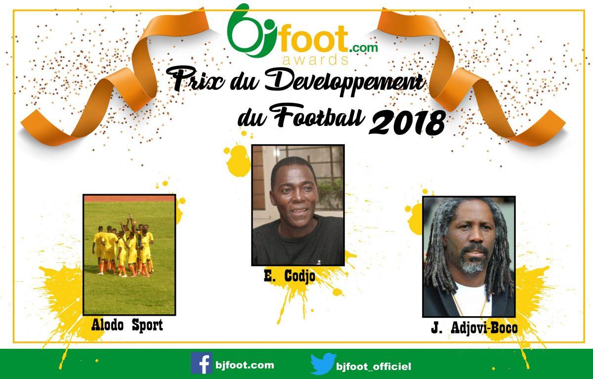Bjfoot Awards 2018 : Les nommés pour le prix du développement du football