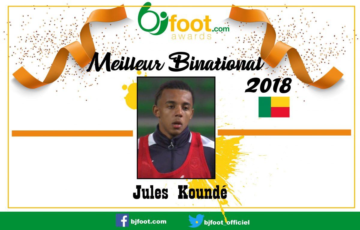 Bjfoot Awards 2018: Jules Koundé , meilleur binational