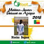 Bjfoot Awards 2018: Nicolas Dognon, meilleur joueur évoluant en Afrique