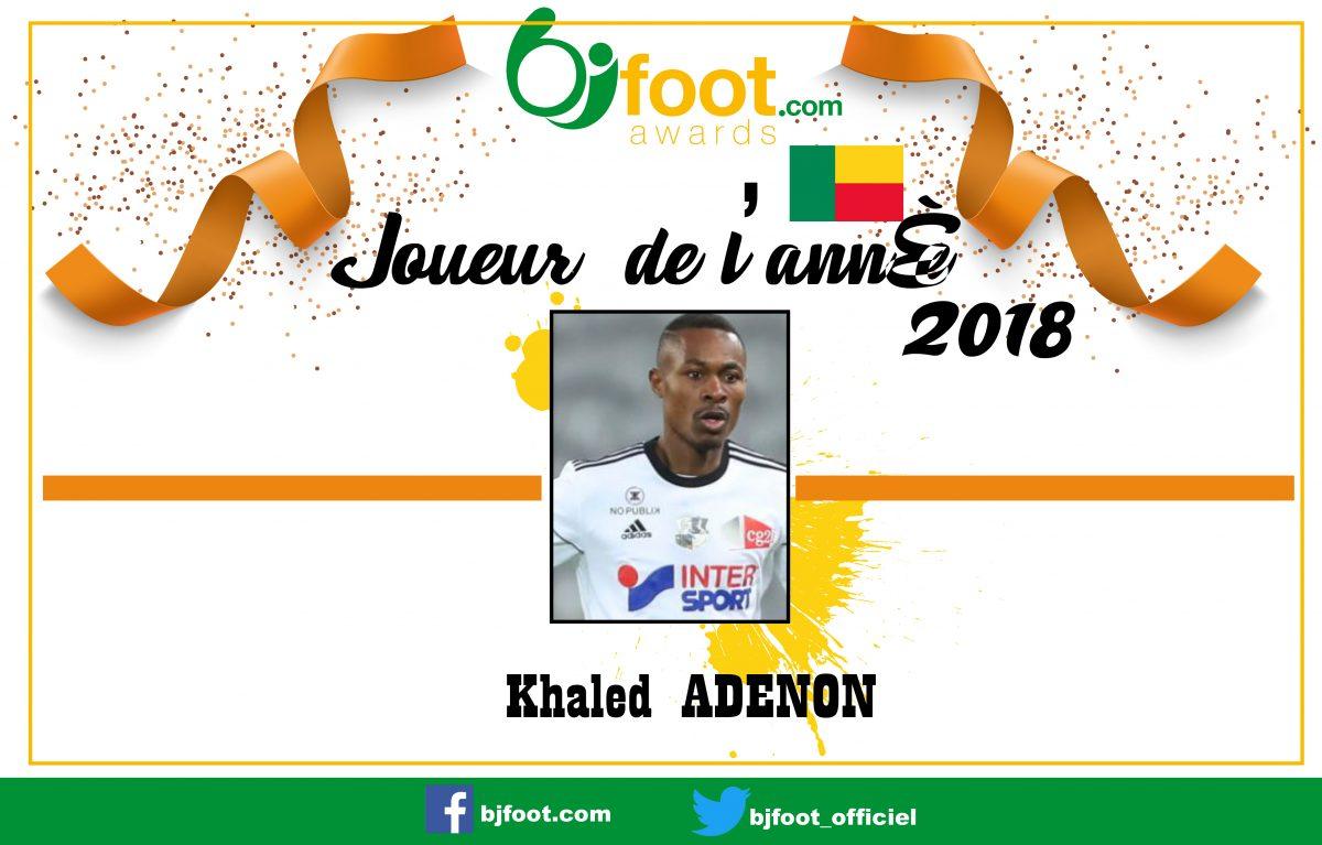 Bjfoot Awards 2018: Khaled Adénon , joueur de l'année