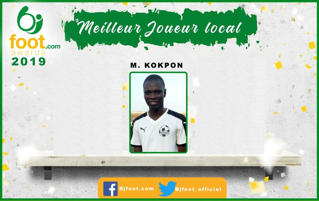 Bjfoot Awards 2019 : Maxime Kokpon (Esae) désigné meilleur joueur local