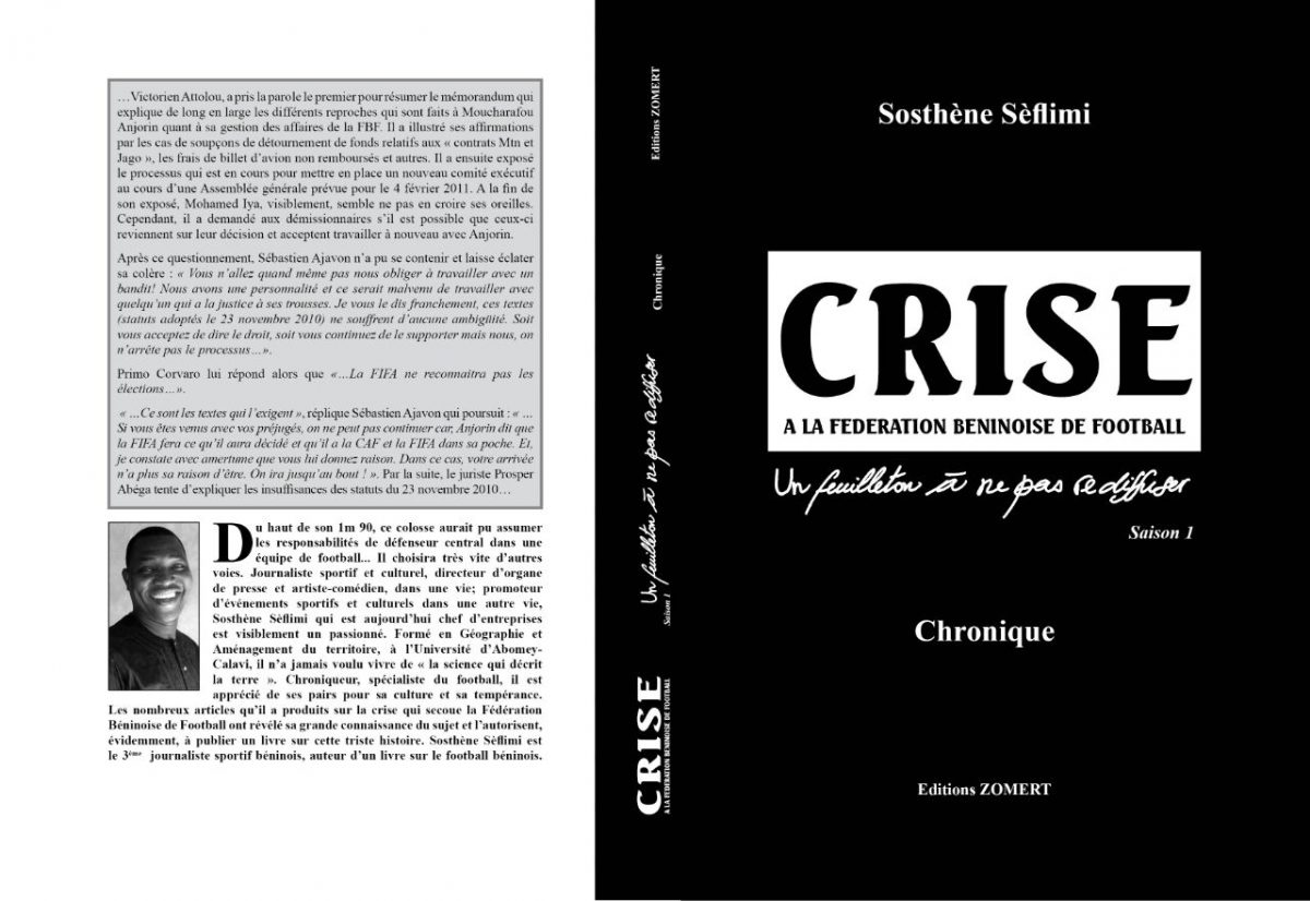 Divers: Sosthène Seflimi lance un livre sur la crise du football béninois