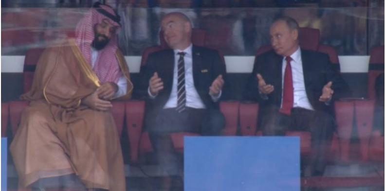 Coupe du Monde 2018: Infantino et Poutine ne savent plus trop quoi dire au cheikh Ben Salmane