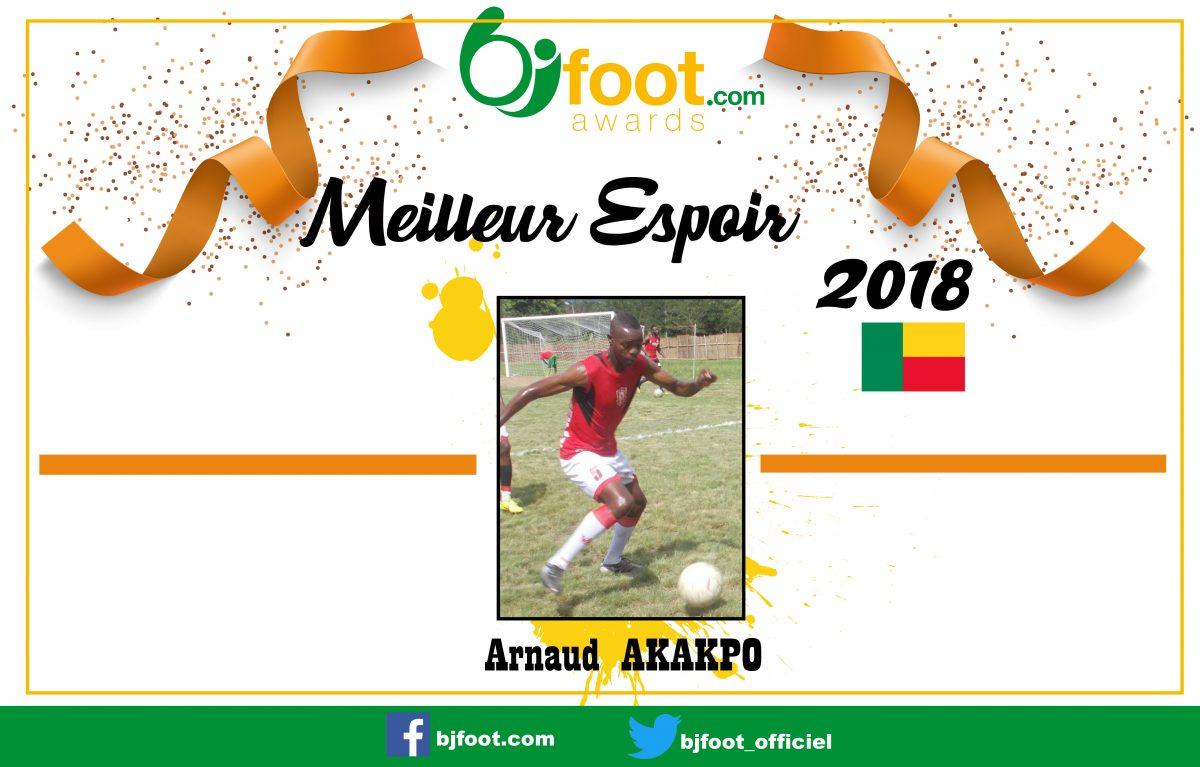 Bjfoot Awards 2018: Arnaud Akakpo , meilleur espoir